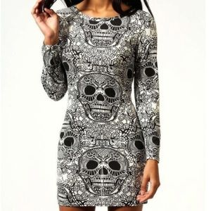 🖤BOOHOO🖤SUGAR SKULL DRESS🖤
